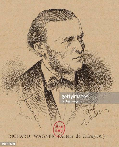 Portrait of the Composer Richard Wagner 1891 Found in the Collection of Bibliothèque Nationale de France