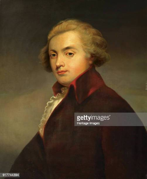 Portrait of the composer Wolfgang Amadeus Mozart . Private Collection.
