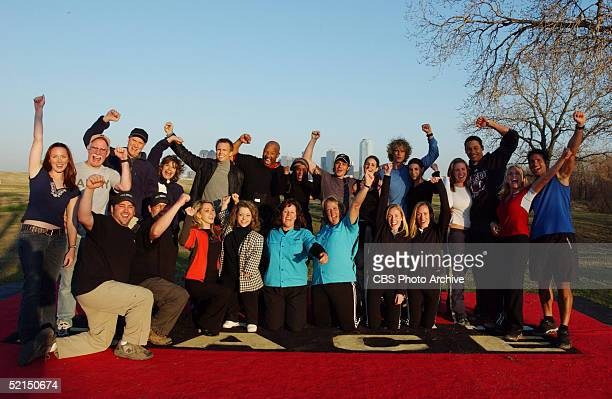 Portrait of the contestants and host of the television game show 'Amazing Race 5' where teams of two were required to complete a 72000 mile...