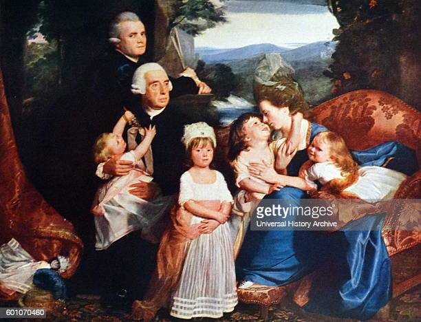 Portrait of The Copley Family by John Singleton Copley an American painter active in both colonial America and England Dated 19th Century