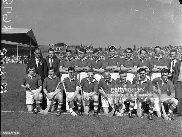Portrait of the Cork hurling team during the AllIreland semifinal at Croke Park Ireland September 5 1953
