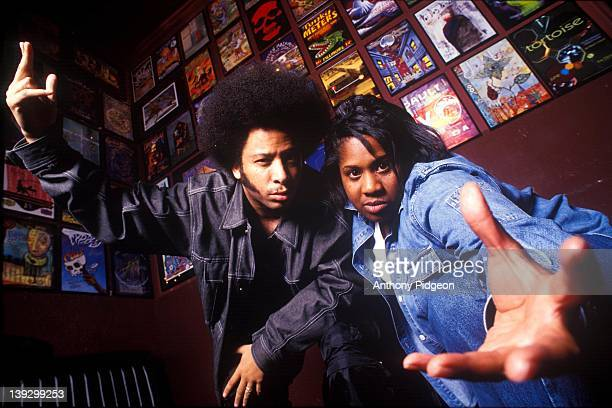 Portrait of The Coup Raymond 'Boots' Riley and DJ Pam the Funkstress at The Fillmore San Francisco California USA on 3rd May 2002