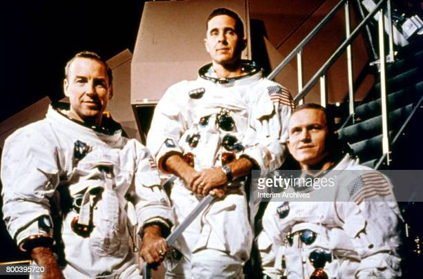 Portrait of the crew of NASA's Apollo 8 Florida December 1968 Pictured are from left command module pilot James Lovell lunar module pilot William...
