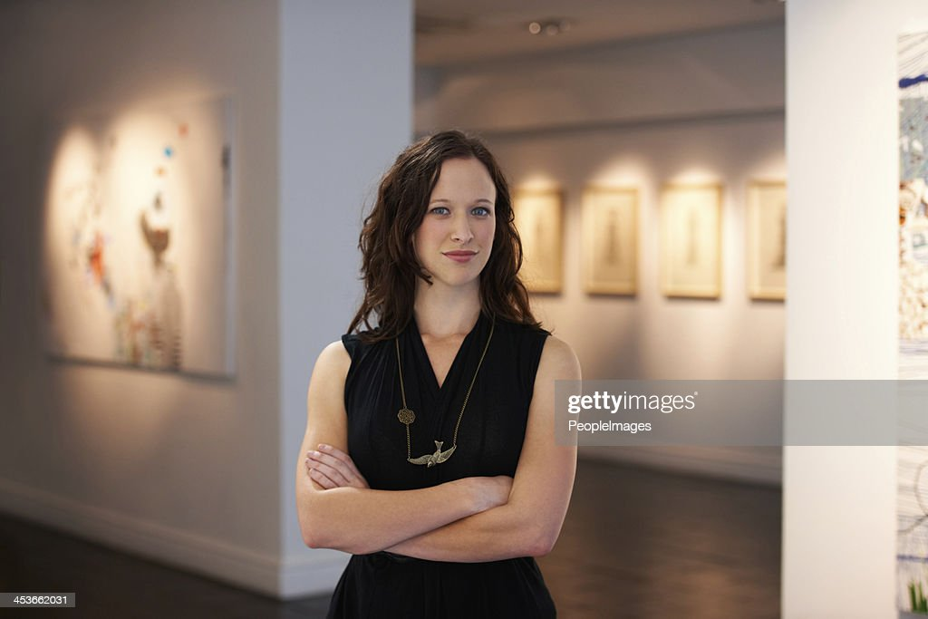 Portrait of the curator : Stock Photo
