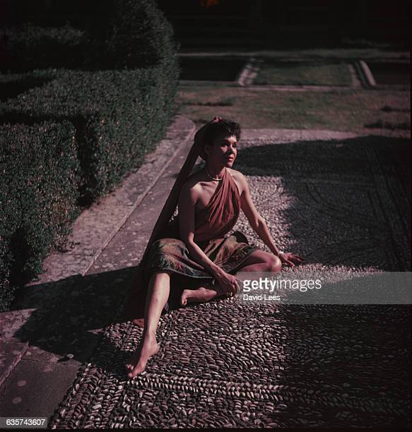 A portrait of the dancer Katherine Dunham in the Boboli Gardens Florence