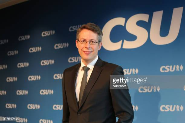 Portrait of the designated secretary general Markus Blume in Munich Germany on 5 March 2018 The Christian Social Union anounced its new federal...