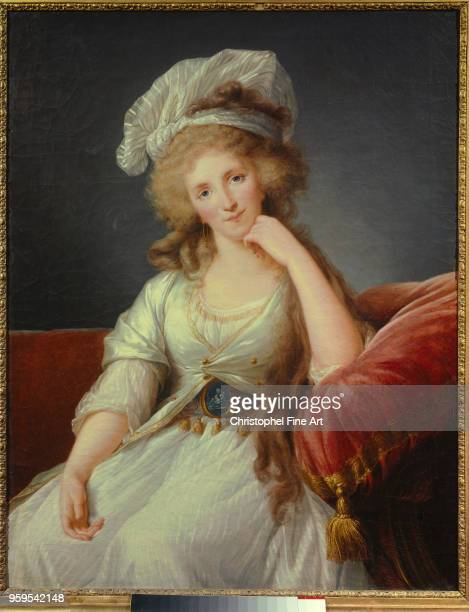 Portrait of the Duchess of OrleansÊLouise de Bourbon Penthievre wife of Philippe Egalite Vigee Lebrun Elisabeth Musee Des Beaux Arts in Marseille...