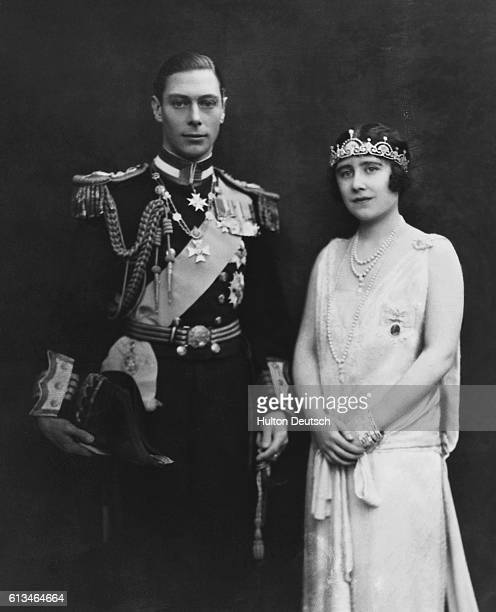 A 1928 portrait of the Duke and Duchess of York who would become after his brother Edward VIII's abdication in 1936 King George VI and Queen Elizabeth