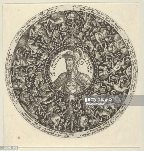 Portrait of the Duke of Alva, from a Series of Tazza Designs, circa 1588. Artist Theodore de Bry.