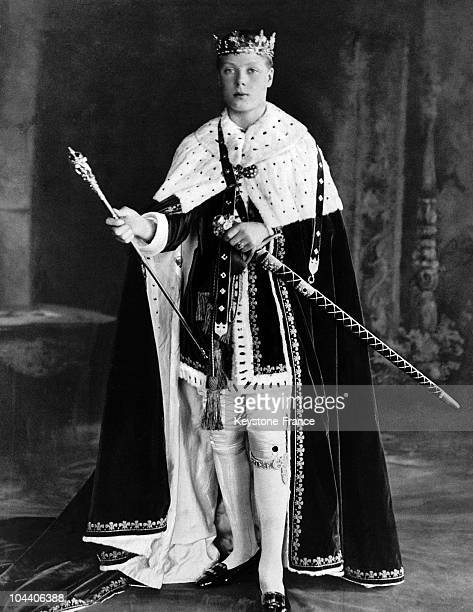 Portrait of the Duke of WINDSOR at Caernarvon Castle on July 13 1911 He had just been invested with the title of Prince of WALES being the eldest son...