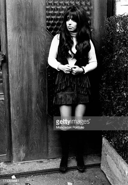 Portrait of the Dutch singer Mariska Veres lead vocalist of the band Shocking Blue recently placed at number one on US chart with the tune Venus...