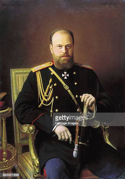 'Portrait of the Emperor Alexander III', 1886. Alexander III reigned as Emperor of Russia from 14 March 1881 until his death in 1894. He was...
