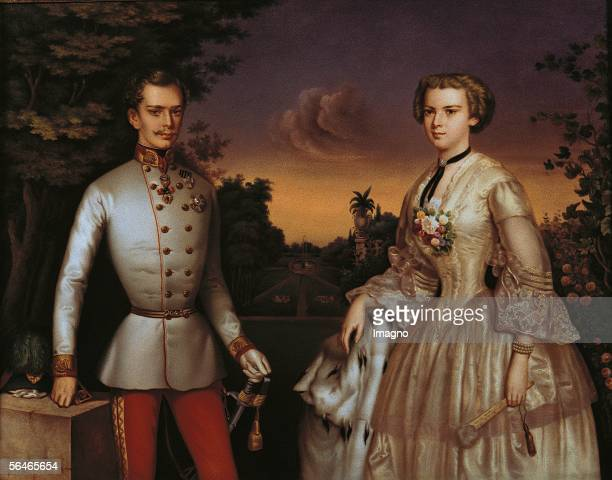 Portrait of the emperor Franz Joseph and his wife the empress Elisabeth [Portrait des Kaisers Franz Joseph und der Kaiserin Elisabeth]