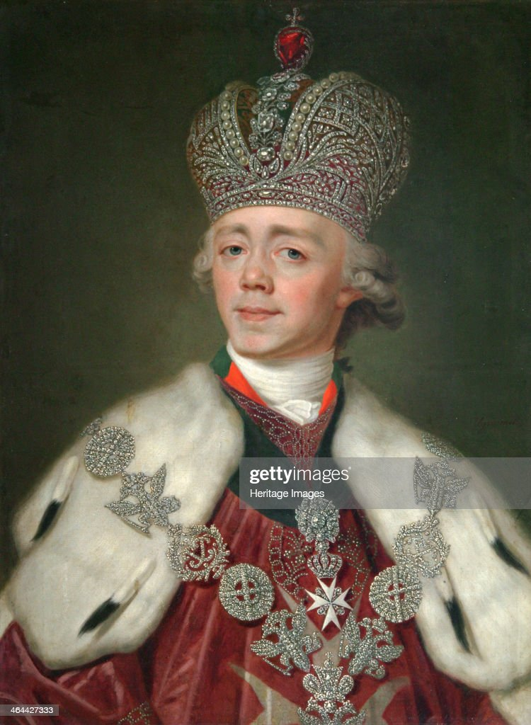 Portrait of the Emperor Paul I of Russia', (1754-1801), 1799-1800. : News Photo