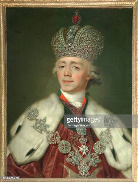 Portrait of the Emperor Paul I of Russia , 1799-1800. Found in the collection of the Museum of Fine Arts Academy, St. Petersburg.