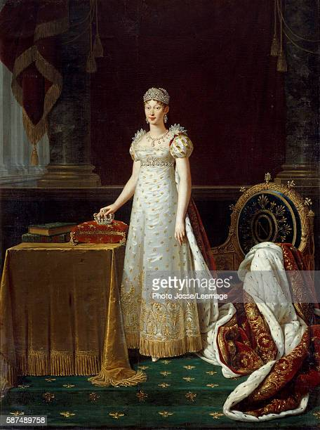 Portrait of the Empress Marie Louise of Austria wife of Napoleon I represented as Regente of the Empire and wearing a set of Chaumet's diamonds...