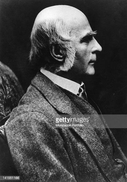 Portrait of the English eugenicist anthropologist Francis Galton 1890s