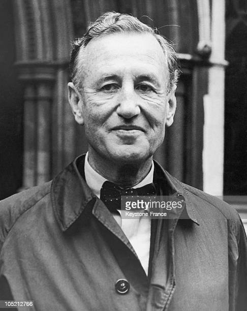 Portrait Of The English Writer Ian Fleming The Creator Of James Bond In London In November 1963