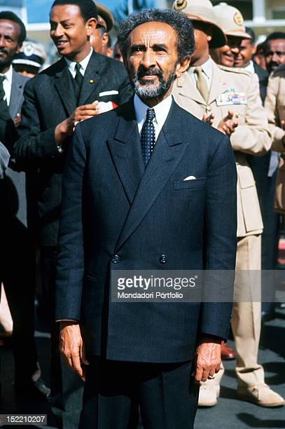 Portrait of the Ethiopian Negus Haile Selassie I Addis Ababa 1966