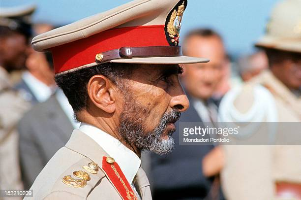 Portrait of the Ethiopian Negus Haile Selassie I Addis Ababa 1966