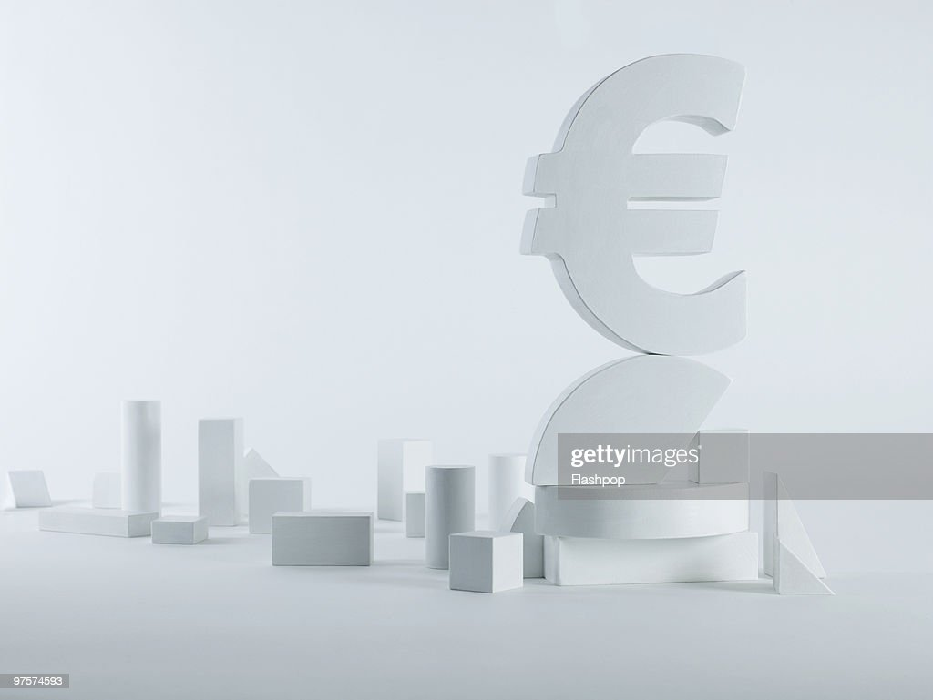 Portrait Of The Euro Symbol Balancing On Blocks Stock Photo Getty