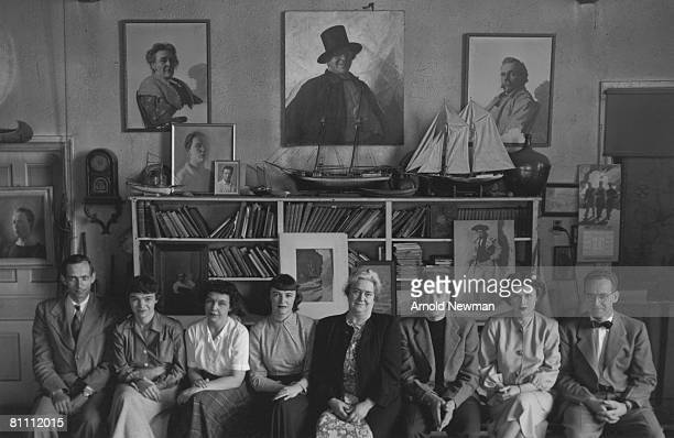 Portrait of the extended Wyeth family many of whom were painters taken at their home in Chadds Ford Pennsylvania April 16 1948 Pictured are Andrew...