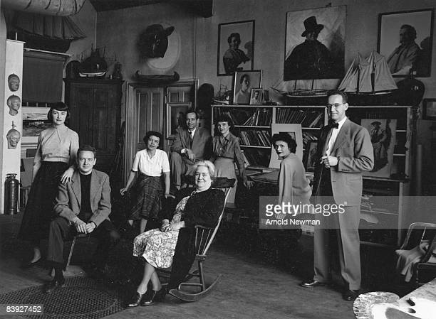 Portrait of the extended Wyeth family many of whom were painters taken at their home in Chadds Ford Pennsylvania April 16 1948 Pictured are Pictured...