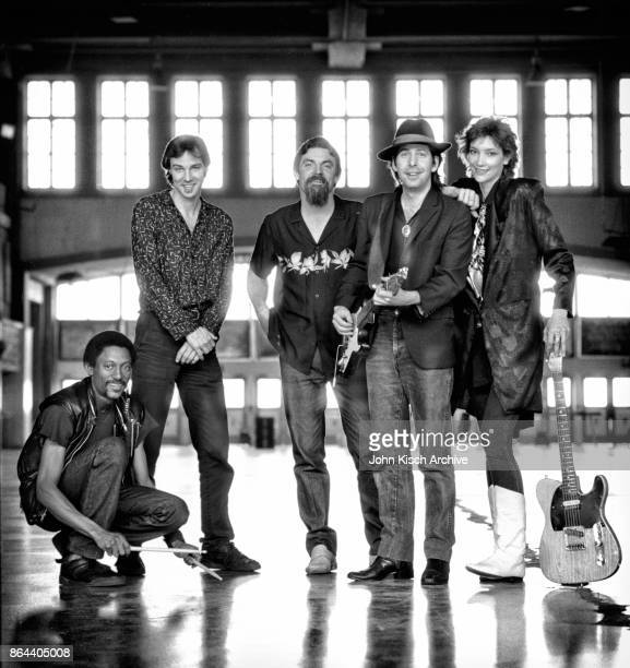 Portrait of the Fairlanes Asbury Park New Jersey 1987 Pictured are from left Earnest 'Boom' Carter Tim Tindall Billy Lilley Billy Hector and Suzan...