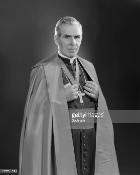 A portrait of the famous Catholic Archbishop Fulton J Sheen New York 1964