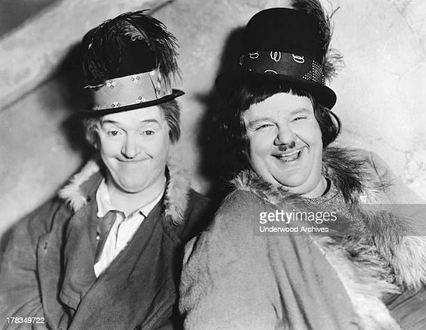 A portrait of the famous comedy team Stan Laurel and Oliver Hardy Hollywood California c 1928