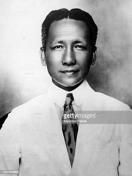 Portrait of the Filipino senator Sergio OSMENA between 1925 and 1929 He prepared the Philippines' autonomy towards the United States and became...