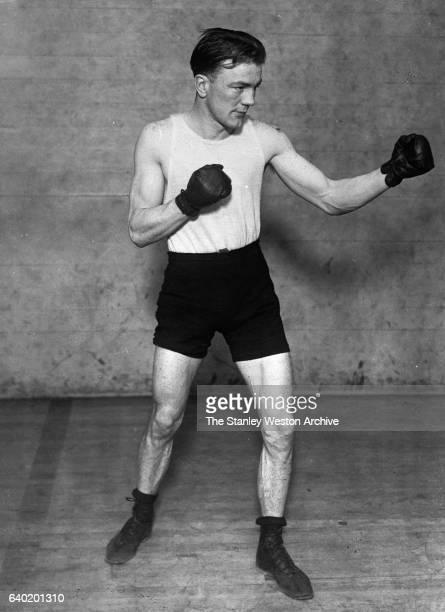 Portrait of the first New York State Athletic Commission bantamweight world champion Joe Lynch circa 1900