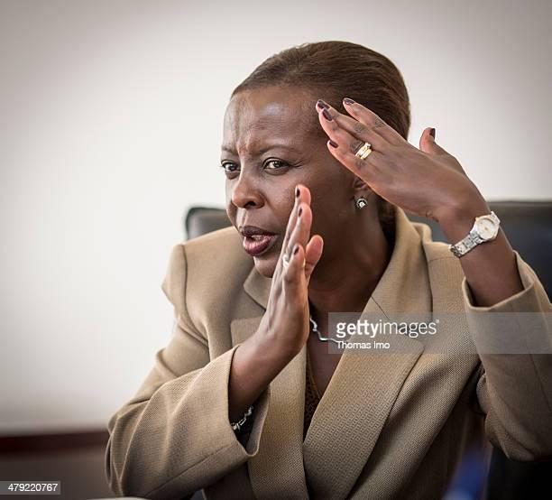 Portrait of the Foreign Minister of Rwanda Louise Mushikiwabo on February 06 2014 in Kigali Rwanda