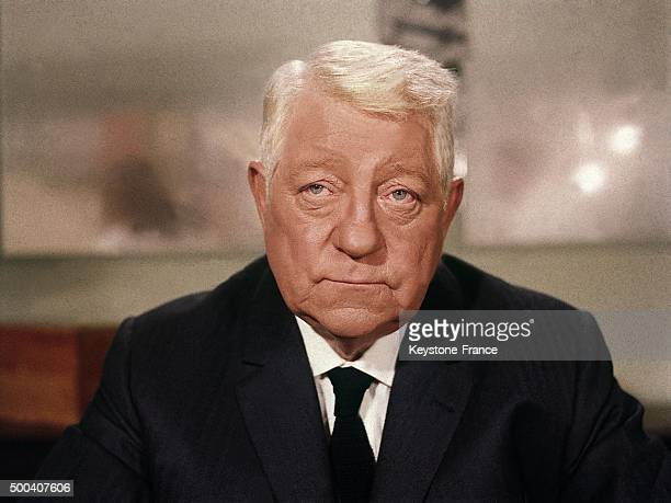 Portrait of the French actor Jean Gabin, then aged 65, 1969 in Paris.
