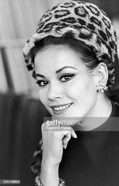 Portrait Of The French Actress Claudine Auger In London In 1965