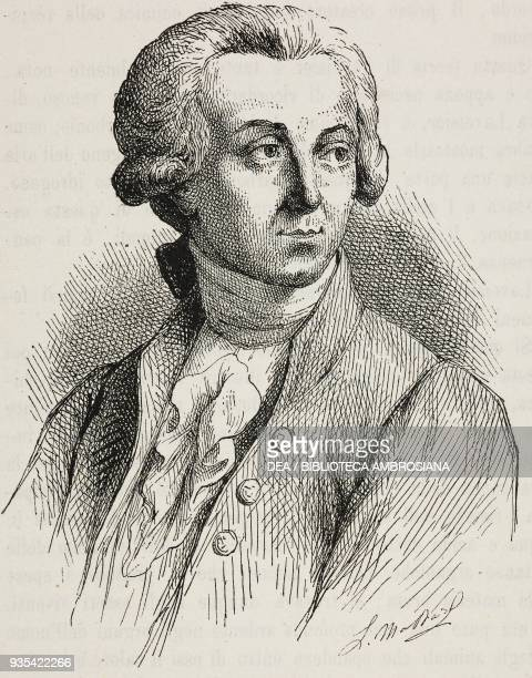 Portrait of the French chemist Antoine Lavoisier illustration by L Massard from Know Yourself Notions of physiology to youth and educated people by...