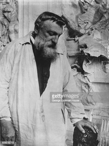 Portrait of the French sculptor Auguste Rodin ca1906 France