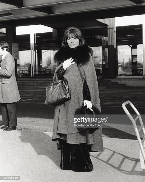 Portrait of the French singer and actress Juliette Greco Milan 1970s