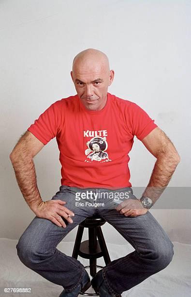 Portrait of the French TV presenter Corti