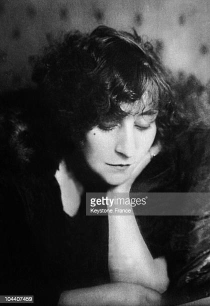 Portrait of the French writer COLETTE around 18901910