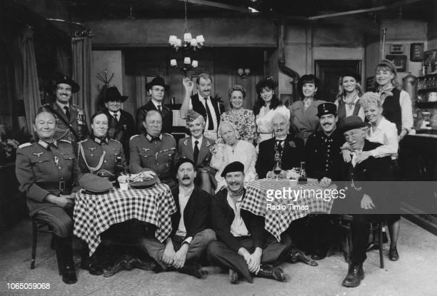 Portrait of the full cast of series 5 of the television sitcom ''Allo 'Allo' including Gordon Kaye and Carmen Silvera May 27th 1988
