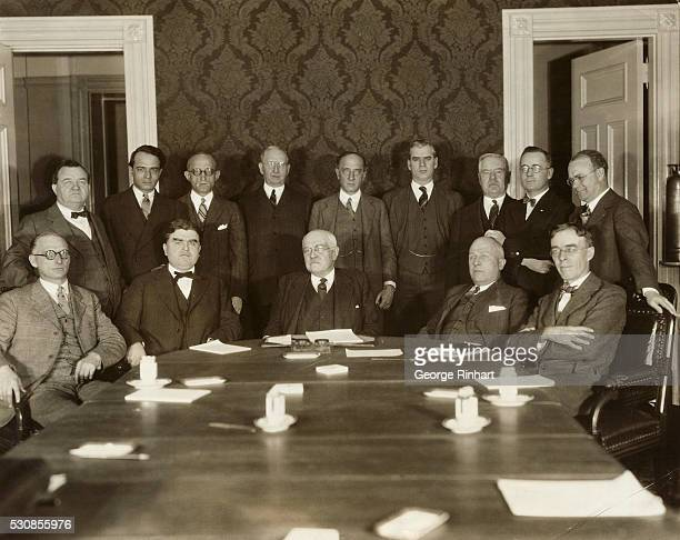 A Portrait of the full committee of both operators and miners who are still debating the plan advanced late the day before yesterday by Alvin Markle...