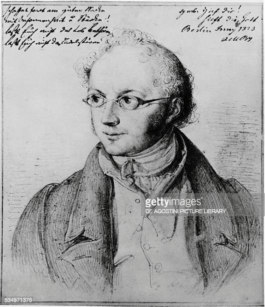 Portrait of the German banker Abraham Mendelssohn Bartholdy father of the composers Felix and Fanny Mendelssohn engraving 19th century