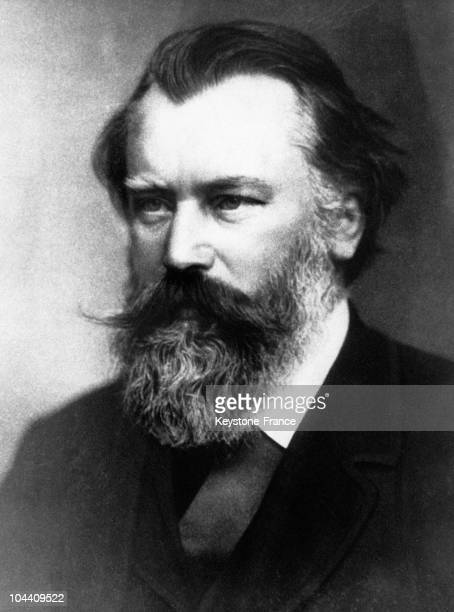 Portrait of the German composer and conductor Johannes BRAHMS around 18651885