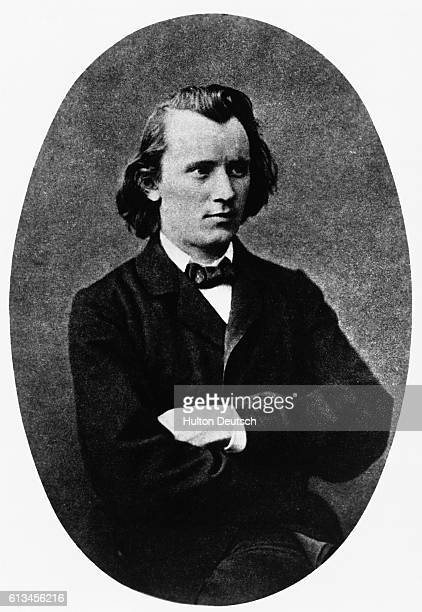 A portrait of the German composer and pianist Johannes Brahms at the age of 20
