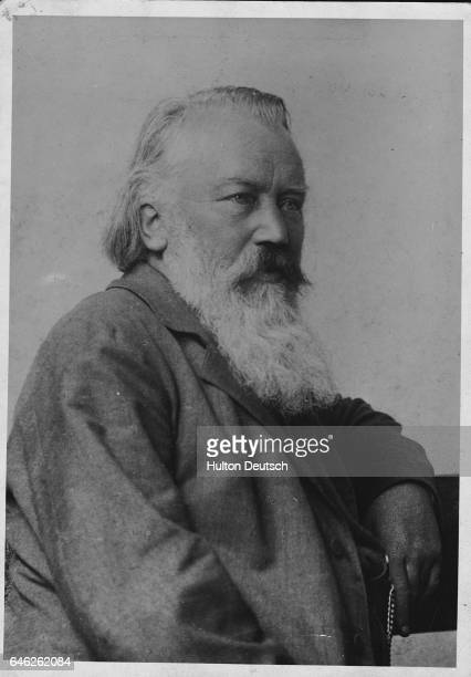A portrait of the German composer and pianist Johannes Brahms in old age