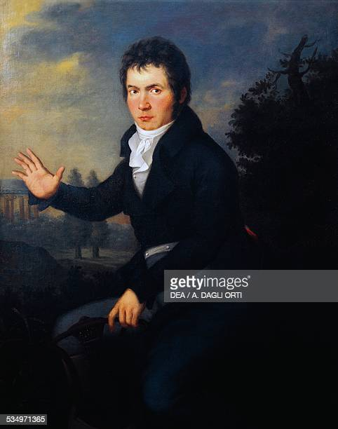 Portrait of the German composer Ludwig van Beethoven ca 1804 by Joseph Willibrord Mahler oil on canvas Germany 19th century Vienna Historisches...