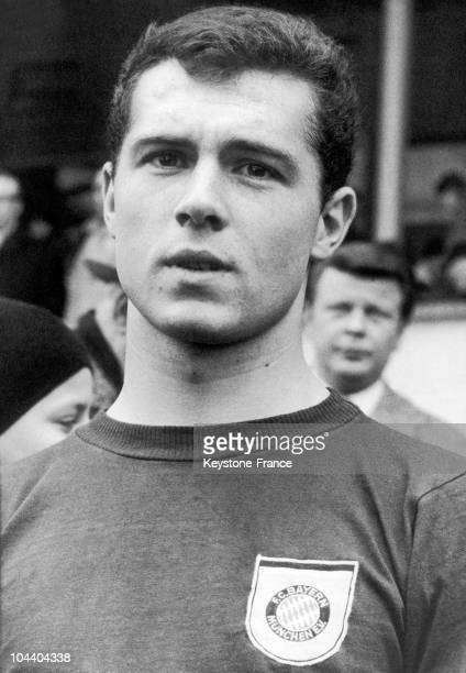Portrait of the German soccer player Franz BECKENBAUER from the FC BAYERN MUNICH He participated in the soccer World Cup in Wembley England with the...