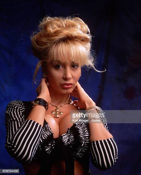 A portrait of the German xrated movie star Dolly Buster taken in Munich Germany