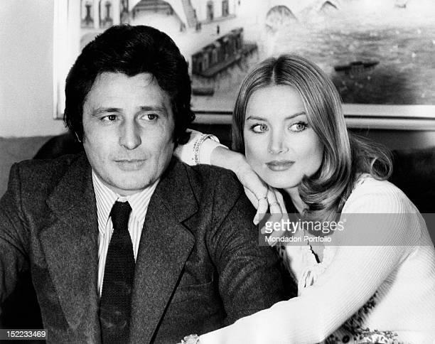 Portrait of the Germanborn Italian actress Barbara Bouchet and her husband the Italian businessman Luigi Borghese Rome 1970s